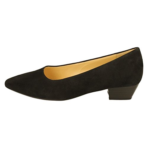 Ladies Gabor Court Shoes 65.130 Black GG43JH3Ly1