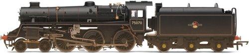 Gauge Dcc Locomotive (Hornby R2716 00 Gauge BR Late Weathered Standard Class 75000 DCC Ready Steam Locomotive)