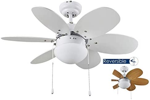 Bastilipo Ventilador de Techo, Metal, Blanco, 75 x 29 cm: Amazon ...