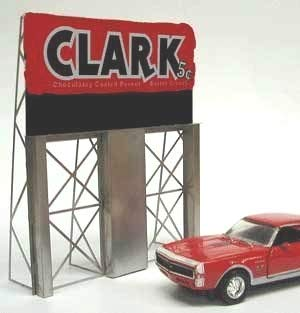 2981 Model Clark Bar Animayed Lighted Billboard by Miller Signs by Miller Engineering