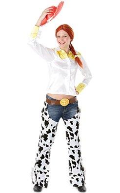 001e5eb70c9 Jessie Fancy Dress Costume - Toy Story (adult 12-14)  Amazon.co.uk  Clothing