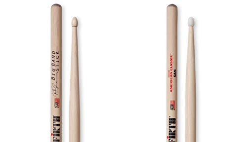 Vic Firth Pete Erskine Big Band Signature Sticks with Vic Firth 5A Nylon Tip Nova Drumsticks