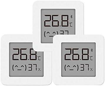 Mini Termómetro Higrometro Digital para Interior, Sensores Suizos de Alta Precisión para Interiores, para Xiaomi mijia APP, 3 PCS