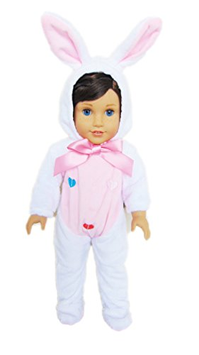 My Brittany's White Easter Bunny Costume for American Girl Dolls (Bunny Costume Girls)