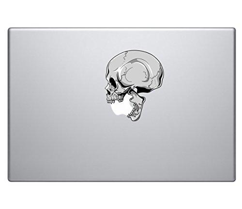 (Human Skull Biting Apple Logo Vinyl Decal Sticker - Skin MacBook Pro Air Sticker 13