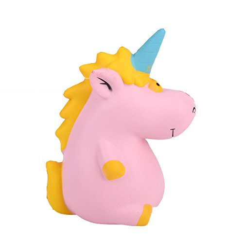 AhlsenL Funny Squishies Jumbo Kawaii Unicorn Hippo Slow Rising Squishy Toys Cream Scented Stress Relief Squeeze Toy for Kids and Adults (Pink)