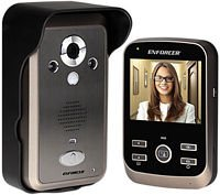 SECO-LARM DP-236Q Wireless Video Door Phone, Complete System, Talk with visitors and unlock doors or gates via the monitor, Includes a kickstand and charging base for the monitor by SECO-LARM