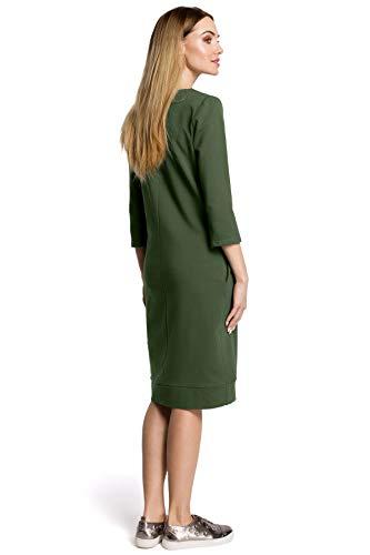 Ausschnitt mit Grün V Kleid Clea Hqn7ww