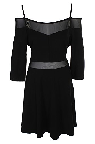 French Connection Cocktail - French Connection Women's Tatlin Beau Jersey Fit and Flare Dress, Black, 12