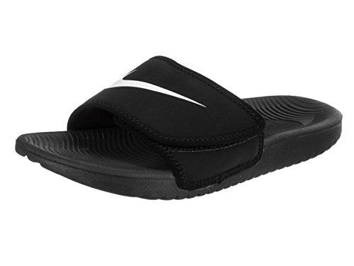 53e92e9b0597 NIKE Boy s Kawa Adjust Slide Sandal (GS PS) Black White Size 11 Kids US