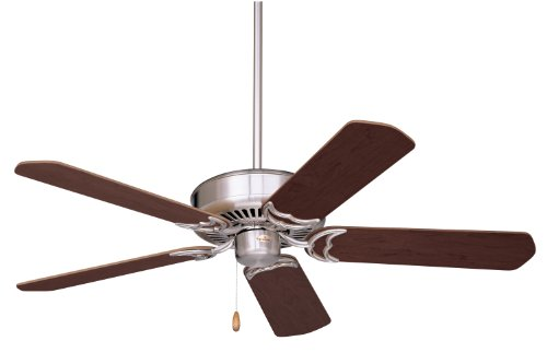 Emerson Ceiling Fans CF755BS Designer 52-Inch Energy Star Ceiling Fan, Light Kit Adaptable, Brushed Steel Finish by Emerson