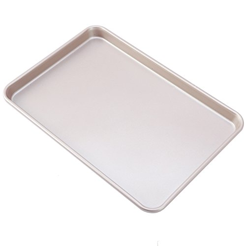CHEFMADE Non-stick Bakeware 15 Inch Heavy-duty Carbon Steel Cookie Sheet, FDA Approved, Oven Roasting Meat Bread Baking Jelly Roll Pan Cupcake Tray 10