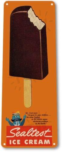 TIN Sign Chocolate Vanilla Popsicle Ice Cream Pop Retro Ice Cream Sign TINA-R