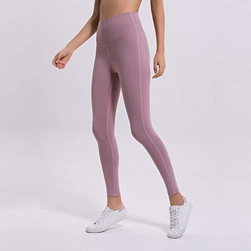 Para Entrenamiento Deportivos Yoga Mujeres Diario De Cjjc Leggings Las Puro Simple Cintura Uso Medias El Alta Opcional Correr Color Pink Casual Pantalones Fzqwa