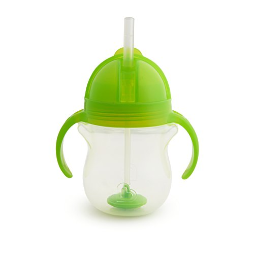 Munchkin Click Lock Weighted Straw Cup, 7 Ounce, Green