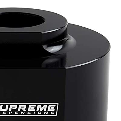 """Supreme Suspensions - Front Leveling Kit for Ford Ranger [4x4] 2 Inch Front Aircraft Billet Coil Spring Spacers + 5/8"""" Stud Extenders (Black): Automotive"""