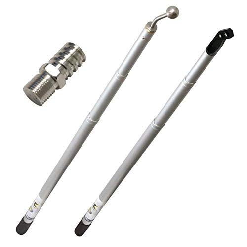 Rankee Extendable Drywall Finishing Tool Handle 3' - 8' (Nail Spotter, Angle Head, Adapters)