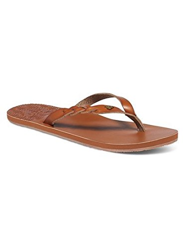 Roxy Women's Liza Sandal Flip Flop, Brown, 8 M US