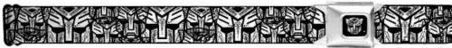 Buckle-Down Seatbelt Belt - Autobots Swirl Stacked White/Black - 1.5