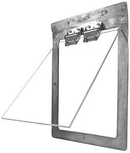 Gun Dog House Door | Heavy Duty Chew Proof, Weather Tight, Energy Efficient | Metal Dog Door | Small, Medium and Large