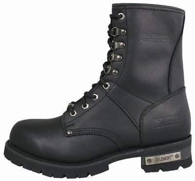 (Xelement 1446 'Vigilant' Men's Black Logger Boots with Inside Zipper - 9.5)