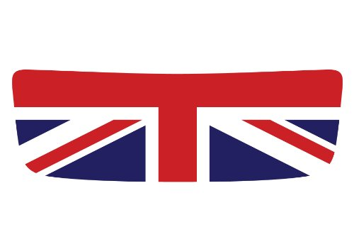The Pixel Hut gs00056 Union Jack Hood Scoop Graphic for MINI Cooper S R56 (Scoop Union)
