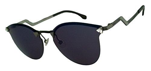 Fendi Ff0040/s 100% Authentic Women's Sunglasses Dark Ruthenium / Black Lqjxt