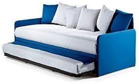Sofá cama moderno con somier extraíble.Incluye colchón, tela ...