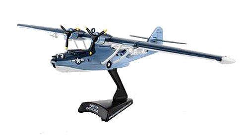 Daron Worldwide Trading Postage Stamp USN Pby5 Catalina 1/150 Airplane Model