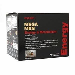 GNC Мужская Mega Men Energy & Метаболизм Vitapak - 30 Количество коробка