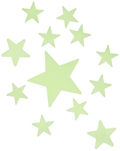 Out of the Blue 3 Größen, 13-teiliges Set auf Blisterkarte Sterne, Leuchten im Dunkeln, Kunststoff, Gelb, 28 x 28.5 cm Einheiten OOTB 90/1048