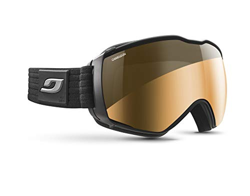 Julbo Aerospace Photochromic Snow Goggles with Ultra Venting Superflow Technology No Fogging - Cameleon - Black/Grey
