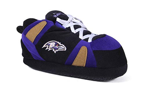 Happy Feet Mens and Womens Baltimore Ravens Slippers Large BAL01-3
