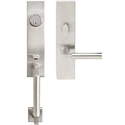 (INOX NY221C563-32D-RH New York Door Handle Set, 2-3/8-Inch, Satin Stainless Steel)