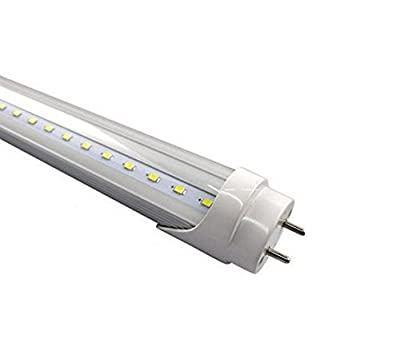 """Fulight UV & Blacklight ¤ T8 LED Tube Light (Clear) - 2FT 24"""" 10W, UV 390-395nm, F17T8, F20T8, F20T12/BL, Double-End Powered, Works from 85-265VAC - Fluorescent Replacement Bulbs"""