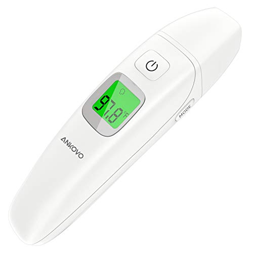 ANKOVO Thermometer with Object Function, for Fever, Instant Reading Professional Digital Medical Forehead and Ear Thermometer, for Baby and Adult