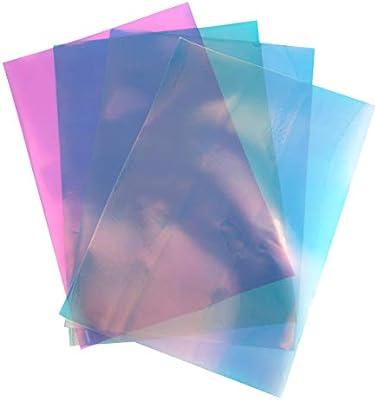 SUPVOX 4 Hojas A4 Vinilo holográfico Mate Vinilo Iridiscente Papel Transfer para Camiseta proyectos artísticos Signo Plotter: Amazon.es: Hogar