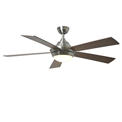Platinum Portes 52-in Brushed Nickel Downrod Mount Ceiling Fan with Light Kit and Remote