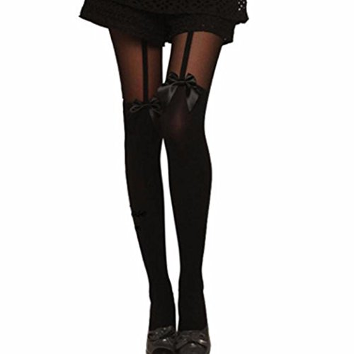 Socks,toraway Vintage Tights Pantyhose Bow Suspender Sheer Stockings