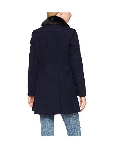 De Abrigo Sintética Piel Dorothy Ex Botonadura Doble Para Azul Con Mujer Perkins Cuello Marino q1taaPwE