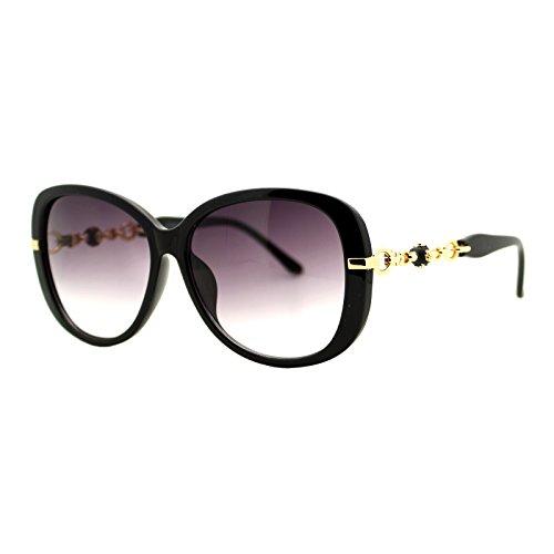 Womens Square Frame Sunglasses Classy Chain Temple Design UV 400 - Classy Glasses Frames