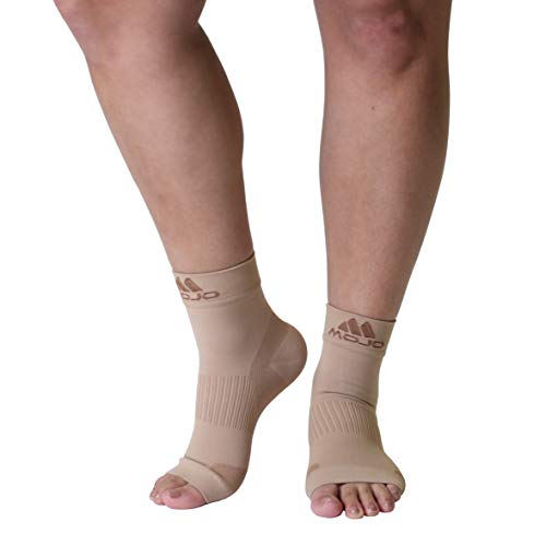 Mojo Compression Plantar Fasciitis Foot Sleeves - XFirm Graduated Support,Large