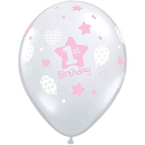 1st Birthday Latex Balloons - 8