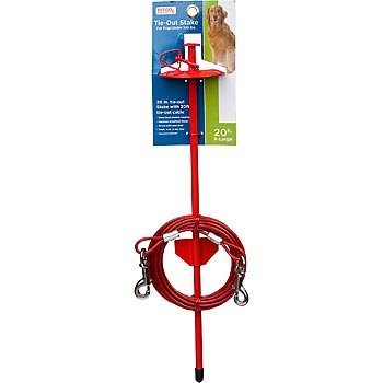 PETCO Dome Stake with 20′ Tie-Out Cable, My Pet Supplies