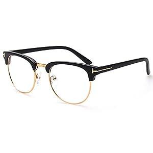 My.Monkey Fashion Retro Round Wayfarer Oversized Frame Glasses (K1)