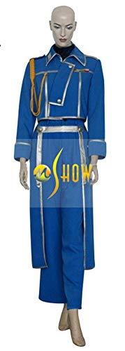 Mtxc Women's Fullmetal Alchemist Cosplay Riza Hawkeye Woman's Military Uniform Size Small Blue ()