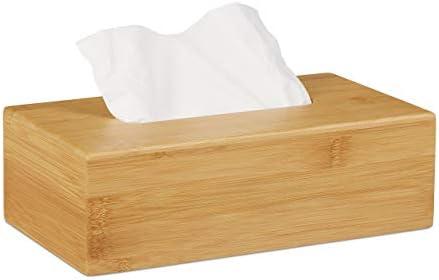 Relaxdays, 8,5 x 27,5 x 15,5 cm Caja para pañuelos, Dispensador de toallitas desmaquillantes, Bambú, Marrón: Amazon.es: Juguetes y juegos