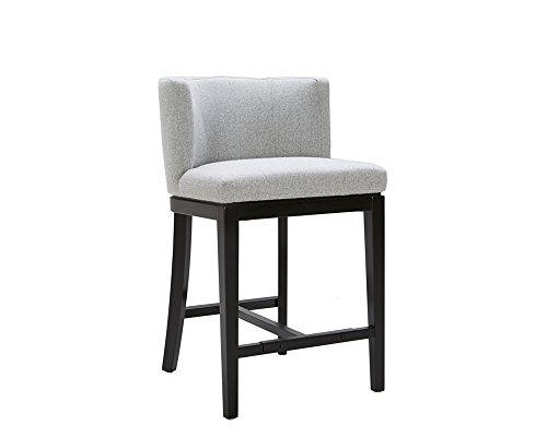 Sunpan Modern Hayden Counter Stool with Marble Fabric