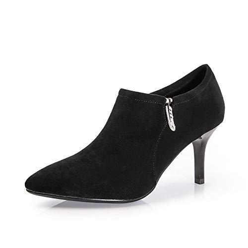 Yukun zapatos de tacón alto Zapatos De Tacón De Aguja De Tacón Alto Black