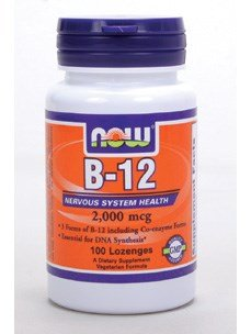 Now Foods B-12 2000mcg (300 Lozenges) by NOW